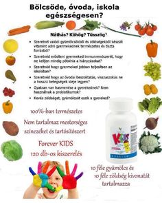 multivitamin gyerekeknek és felnőtteknek www.activator.flp.com Forever Business, Forever Life, Forever Living Products, Aloe Vera, Health And Beauty, Health Fitness, Nutrition, Fruit, Hungary