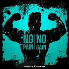 Fitness Motivation - No Pain, No Gain Fitness Tattoos, Fitness Logo, Fitness Quotes, Fitness Nutrition, Logos Gym, Gym Logo, Sport Motivation, Workout Motivation, Gym Diary