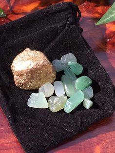 Crystal Energy Medicine Bag Lucky Gold Lodestone & Aventurine Reiki Ch – Mystic Witch Creations