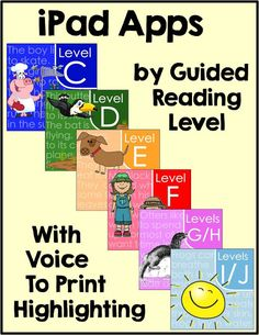 Common Core Connection : Reading Comprehension Passages and Apps by Guided Reading Level Reading Comprehension Passages, Reading Fluency, Kindergarten Reading, Teaching Reading, Teaching Ideas, Teaching Spanish, Reading Resources, Reading Strategies, Reading Activities