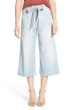 7 For All Mankind® Crop Chambray Palazzo Pants