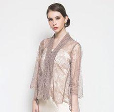 Kebaya Lace, Kebaya Hijab, Batik Kebaya, Kebaya Dress, Dress Brokat Modern, Kebaya Modern Dress, Kebaya Simple, Model Kebaya Modern, Dress Brukat