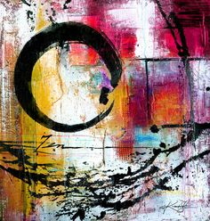 Enso Abstraction No. mm15 ... Canvas Art Print . Original Abstract watercolor painting by Kathy Morton Stanion  EBSQ