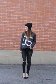 Jersey sweatshirt tutorial. She's adorable