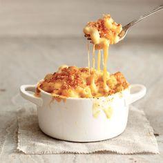 Macaronis au fromage et à la courge / La courge se fond à merveille avec le goût de la sauce fromagée.