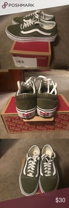 4827864a6e5 Olive Green Old Skool Vans Olive Green Old Skool Vans