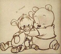 winnie the pooh :) zeichnungen, zeichnung, disney - KUNST Disneyland, Art Drawings Sketches, Cool Drawings, Drawings About Love, Sweet Drawings, Funny Drawings, Winnie The Pooh Drawing, Pooh Winnie, Winnie The Pooh Friends