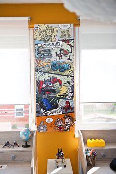 home, kedvencotthon, interiordesign, interiorstyling, kidsroom, walldecor,  desk, tables, comics by Mátyás Lanczinger, lego (photo: Milán Tóth)