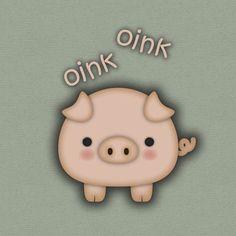 A cute piggy