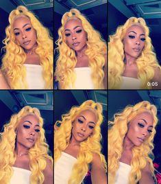 Baddie Hairstyles, Black Girls Hairstyles, Weave Hairstyles, Pretty Hairstyles, Hairstyle Ideas, Long Hair Wigs, Human Hair Wigs, Colored Wigs, Colored Hair
