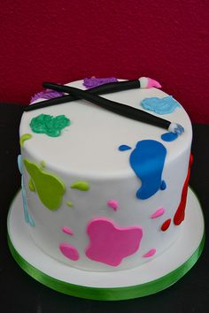 Little Picasso Birthday Party: Artistic Cake! Cupcakes, Cake Cookies, Cupcake Cakes, Artist Party Ideas, Artist Birthday, 9th Birthday, Birthday Cakes, Artist Cake, Occasion Cakes