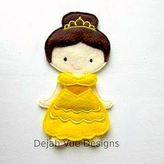 Non Paper Dolls offered by Stone House Stitchery **Outfit Only** Belle Beauty and the Beast Dress