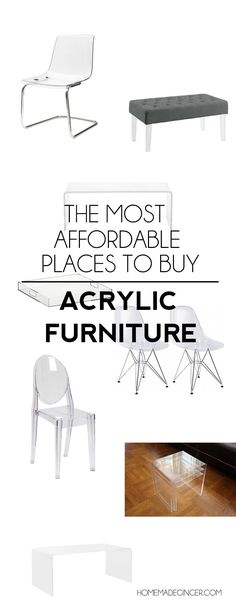 Roundup of the most affordable acrylic furniture pieces out there!