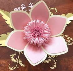How To Make Paper Flowers, Paper Flowers Wedding, Giant Paper Flowers, Diy Flowers, Paper Roses, Wedding Paper, Leaf Template, Flower Template, Templates
