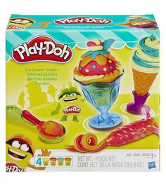 Have your own Play-Doh sundae fun day. Now you dont have to choose between a dish or a cone, because this set has both. The easy-release scoop makes it super simple to grab some Play-Doh ice cream out