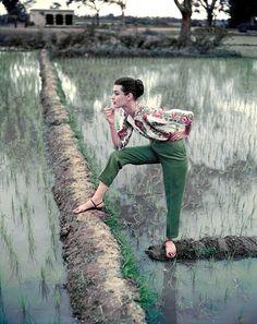 Barbara Mullen, Vogue, 1956, photo by Norman Parkinson