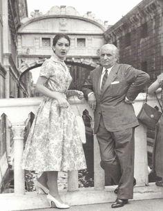 Maria Callas and her 1st husband Giovanni Meneghini, 1950s