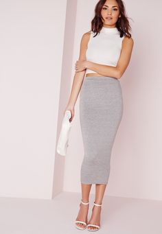 Amp up your curves with our bodycon long midi skirt. Coming to your ankle this hot tube skirt really makes you wiggle, you'll definitely turn heads in this sexy style. Team with a plunge neck body and skyscraper heels for style icon status....