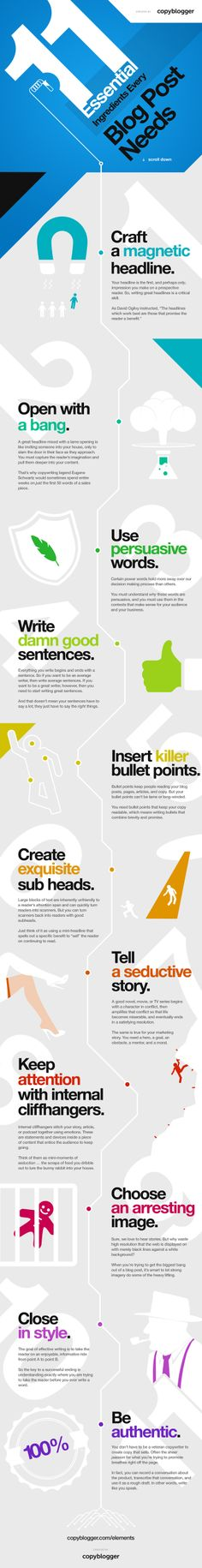 11 Essential Ingredients Every Blog Post Needs #infographic