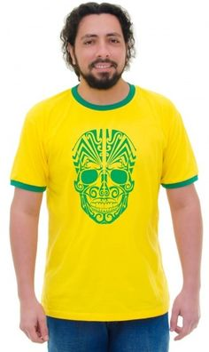 Camiseta do Brasil Caveira - Reis Online Camisetas Personalizadas