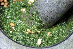 Pesto Recipe ~ need to use up the basil before the frost arrives!