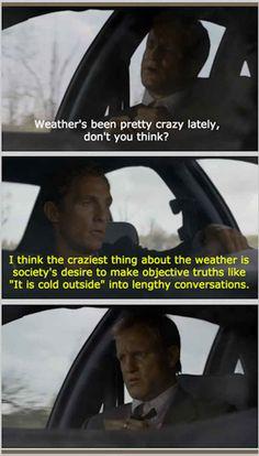 On small talk.