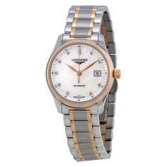 Longines Master Collection Mother of Pearl Dial Two-tone Ladies Watch #brandname #Longines #fashion