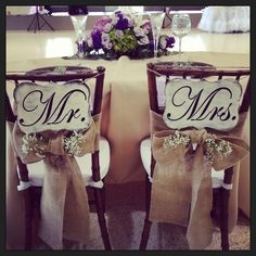 Mr & Mrs... seating for two