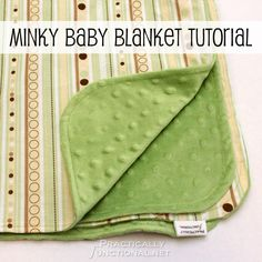 Step by step tutorial for making a minky baby blanket! It's soft, cuddly, durable, and easy to make! Perfect handmade DIY baby shower gift!