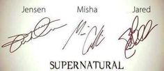 can we please talk about how jensen's is gorgeous and swirly and professional and misha's is understated but still professional and pretty and jared's is literally just a squiggle