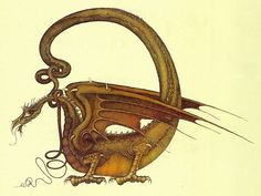 An illustration from a book I was completely fascinated by as a child (The Flight of Dragons by Peter Dickinson).