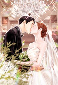 90화. 너는 나의 단 하나의 별, 너라는 별 : 네이버웹소설 Manga Couple, Anime Love Couple, Anime Couples Manga, Anime Poses, Romantic Anime Couples, Romantic Manga, Anime Wedding, Couples Comics, Cute Love Stories