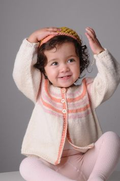 Ravelry: Stripe Yoke Cardigan pattern by Mrs Moon, knit in Mrs Moon Swaddle DK Knitting For Kids, Baby Knitting Patterns, Baby Patterns, Free Knitting, Cardigan Pattern, Baby Cardigan, Knit Crochet, Crochet Hats, Crotchet