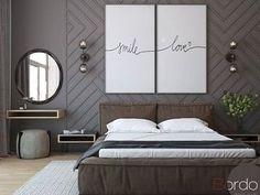 45 Elegant Small Master Bedroom Decoration Ideas - Home Decor Bedroom Colors, Home Decor Bedroom, Bedroom Wall, Bedroom Ideas, Headboard Ideas, Mirror Bedroom, Bedroom Pictures, Bedroom Plants, Modern Bedroom Design
