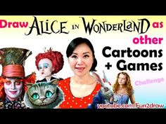 Draw Alice in Wonderland Characters in other Cartoons + Games - Art Challenge - YouTube