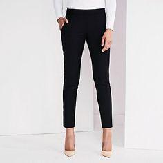 Slim Side Zip Wool Trousers - Black | The White Company