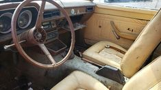 Ford Pinto, Long Term Storage, Flat Tire, Bucket Seats, Classic Cars, Brown, Vintage Classic Cars, Brown Colors, Bucket Chairs