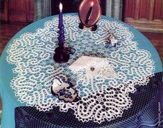 Crochê Tricô - Gráficos: Centrinho em Renda de Bruges