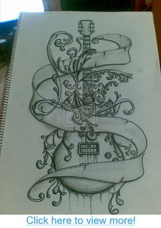 Image Detail for - guitar tattoos