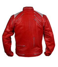 MSHC Men's Michael Jackson Beat It Faux Leather Jacket at Amazon Men's Clothing store: