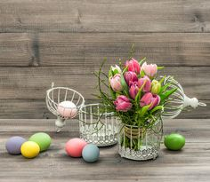 Check out Tulip flower and colored easter eggs by LiliGraphie on Creative Market