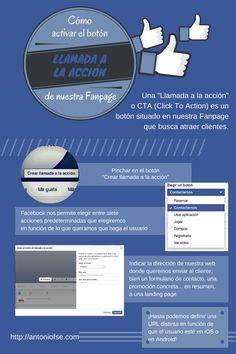 Cómo activar el botón de llamada a la acción en FaceBook #infografia #socialmedia