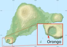 Map of the location of Orongo on Easter Island. Easter Island, Archaeological Site, 16th Century, Map, Islands, Location Map, Maps