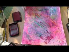 Mixed Media for beginners- Adding stamps Part 4