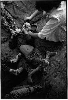BELARUS (photographer Paul Fusco), 1997. Novinki Asylum for Chernobyl victims, Minsk.