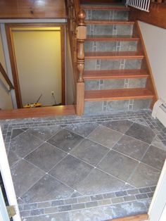 flooring ideas for landing in raise ranch home - Google Search