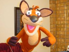 Easy to make foam puppets.