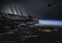 Asgardia: Space nation or pie in the sky? EarthSky 10/20/16, a new space nation dedicated to expanding peaceful exploration of space for the benefit of humanity. Artist's impression. Image via James Vaughan.