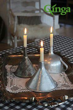 Ideias Ginga para a casa | Suporte bem original para velas