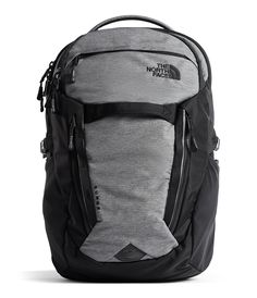 The North Face Surge Backpack liter) Bag Mobile Office, Computer Backpack, Heather Black, North Face Backpack, Laptop Sleeves, The North Face, Pairs, Backpacks, Organize Electronics